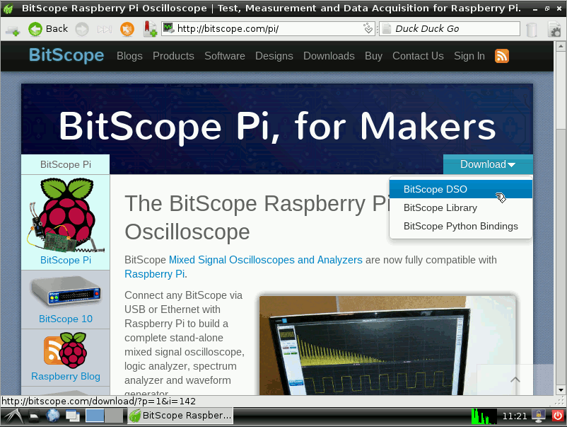Select BitScope DSO for download.