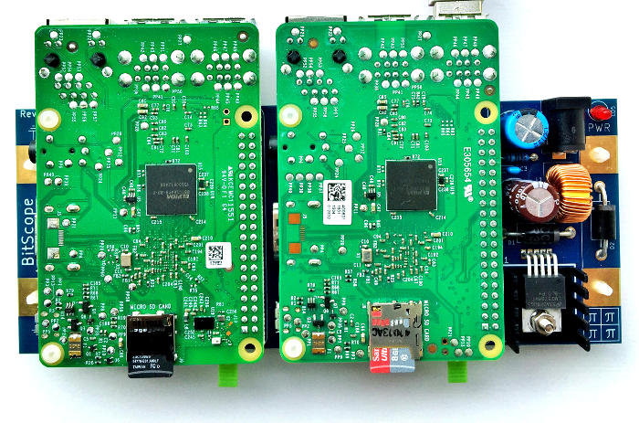 BitScope Blade 02, Duo Pi, Power & Mounting Raspberry Pi Model B Version 3 and 2.