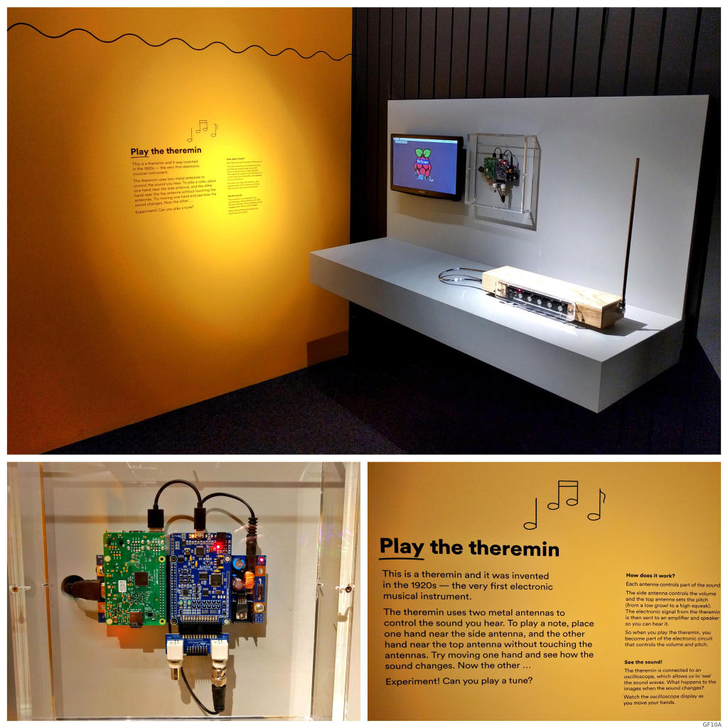 BitScope Blade Theremin Exhibit at MAAS Museum.